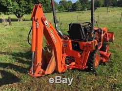 2013 Kubota Bx25 Diesel Tractor 4x4 Front End Loader Backhoe Belly Mower