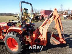 2013 Kubota L3200 Tractor, LA524FL SSL QA, BH77 Backhoe, 32HP, R1 Tires, 753 Hrs