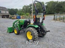 2014 John Deere 2025R Tractor 4x4 Loader