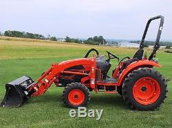 2014 Kioti Ck35 Compact Tractor Gear Drive 35hp 927 Hours Fully Serviced Nice