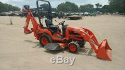 2014 Kubota BX25 4x4 Tractor Loader Backhoe with 60 Belly Mower. Coming In Soon