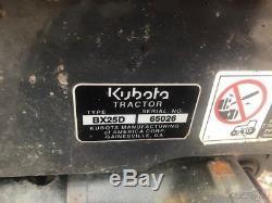 2014 Kubota BX25D 4x4 Compact Tractor Loader Backhoe