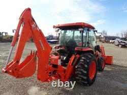 2014 Kubota L4760 Tractor, C/H/A, 4WD, LA1055 Loader SSL QA, BH92 Backhoe, 422Hr