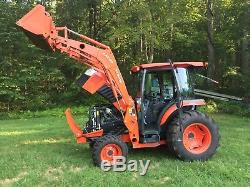 2014 Kubota L5460 4X4 with Cab Loader front aux 275 hrs Nice