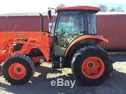2014 Kubota M9960 4x4 Farm Tractor with Cab & Loader Hydraulic Shuttle