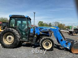 2014 New Holland T4050F 4x4 70Hp Utility Tractor with Cab & Loader