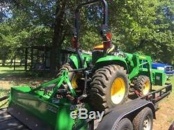 2015 John Deere Tractor 3032e, diesel, 31hp, front loader, box blade