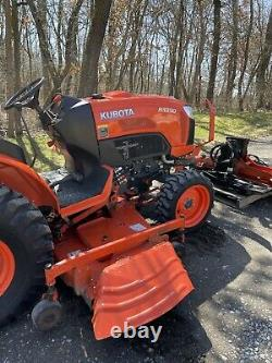 2015 KUBOTA B3350 Diesel Tractor 72 Mower Deck 4WD Hydraulic Snow Plow 291 hrs