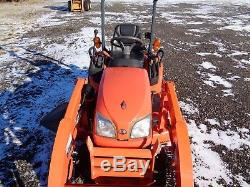 2015 Kubota BX1870 Tractor with Front loader, 54 belly mower, 4WD, Hydro, 102hrs