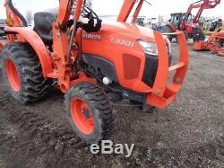 2015 Kubota L3301 Tractor/Loader/Backhoe, 4WD, Shuttle Shift, 489 Hours