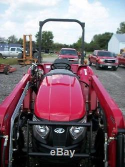 2015 Mahindra 2555 Tractor with Front Loader, 4WD, Shuttle Shift, 55HP, 105 hours