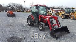 2015 Mahindra 3616 4x4 Compact Tractor with Cab & Loader