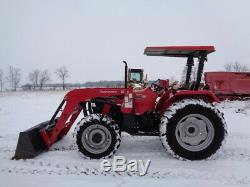 2015 Mahindra 5570 Tractor, 4WD, 5565 4L Loader, 70HP, 2 Rear Remotes, 218 Hours