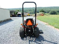2015 Mahindra eMAX 22 Sub Compact Tractor Loader Belly Mower 4X4 22 HP Diesel