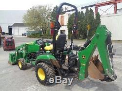 2016 John Deere 1025R- Backhoe Tractor- Diesel- Low Hours