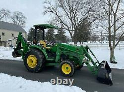 2016 John Deere 4044R Tractor H180 Loader 485 Backhoe Mechanical Thumb