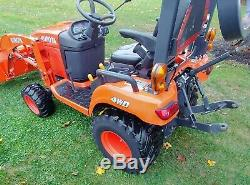 2016 Kubota BX2370, Diesel Tractor 4wd Power Steering Loader Only 111 Hours