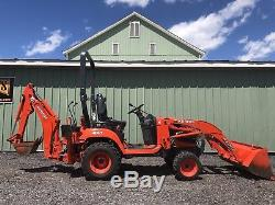 2016 Kubota Bx25d Hst 4x4 Diesel Tractor Loader Backhoe Tlb Low Cost Shipping