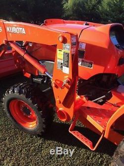 2016 Kubota L3301HST 4x4 with backhoe, front loader, rake, blade, hitch receiver