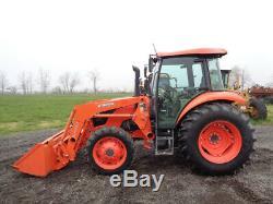 2016 Kubota M7060 Tractor, Cab/Heat/Air, 4WD, LA1154 Loader SSL QA, ONLY 505 HRS