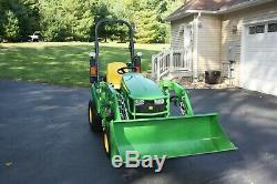 2017 John Deere 1023E Tractor 4X4 with Loader low 40 hours and extras