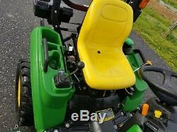 2017 John Deere 1023E tractor 54 AutoConnect mower loader 23HP diesel 4x4 HST