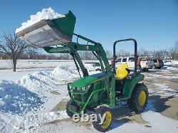 2017 John Deere 2032R 32hp 4X4 Diesel Tractor W Front End Loader Only 673 Hours