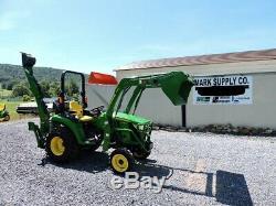 2017 John Deere 2032R Compact Tractor Loader Backhoe 4X4 Yanmar Diesel Warranty
