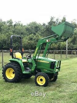 2017 John Deere 3025e PTO 4X4 HST Hydrostatic loader 3 Point Diesel Ag