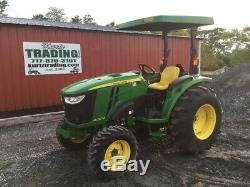 2017 John Deere 4052M 4x4 Hydro Compact Tractor Only 300 Hours One Owner