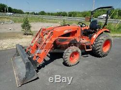 2017 KIOTI CK3510 TRACTOR With KL4010 LOADER, HYDRO, 540 PTO, 3 PT HITCH, 486 HRS