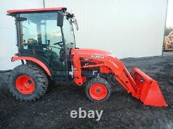 2017 KUBOTA B2650HSD TRACTOR With LOADER, CAB, HEAT A/C, 4X4, 540 PTO, 275 HRS