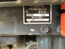 2017 Kubota L3560 4x4 Hydro Compact Tractor Loader Backhoe Only 200 Hours