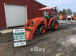 2017 Kubota L4060 4x4 Hydro Compact Tractor with Loader Only 500 Hours