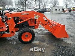 2017 Kubota L4701 Compact Loader Tractor WithBackhoe Only 77 Hours! Warranty