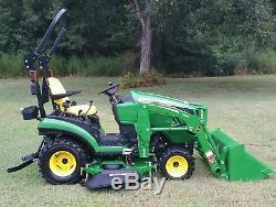 2018 John Deere 1025R 4x4 Sub Compact Tractor Frontend Loader 60D Mower Deck