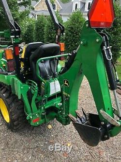 2018 John Deere 2025r Hst Diesel Tractor Loader, Backhoe 4x4