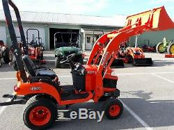 2018 Kubota BX1870D COMPACT TRACTOR LOADER 18 HP diesel 4x4 HST used 270 HRS