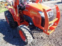 2018 Kubota L3301 Tractor, 4WD, Hydro, LA525 Front Loader with SSL QA, 113 Hours