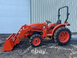 2019 KUBOTA L3301 TRACTOR With LOADER, 2 POST ROPS, 4X4, 540 PTO, HYDRO, 150 HOURS