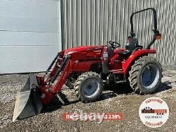 2019 MASSEY FERGUSON 1739 TRACTOR With LOADER, 4X4, 540 PTO, 3 POINT, 117 HOURS
