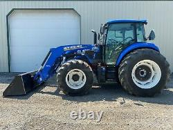 2019 NEW HOLLAND POWERSTAR 100 TRACTOR With LOADER, CAB, 540 PTO, HEAT AC, 807 HRS