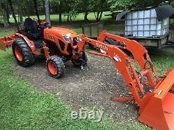 2020 Kubota LX2610 4x4 Tractor B2650 L2501 Front end loader grapple