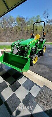 2021 JOHN DEERE 2032R TRACTOR With LOADER, 4X4, PTO, HYDROSTATIC, 15 HOURS