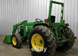 40 HP John Deere 990 Diesel 4x4 Loader Tractor 4wd 4120 4320 4005 1070