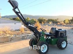 4WD Compact Tractor with Loader, Backhoe, Blade, PlowithDigger Hydraulic Attachments