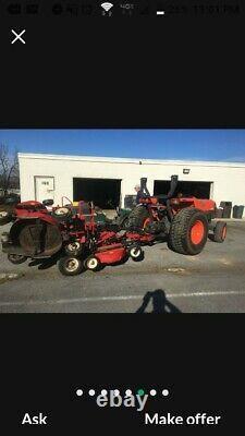 4x4 Kubota L4400-D Tractor ProFlex 120 mower pto no backhoe loader golf course