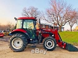Case 4x4 X 70 Loader Tractor Loader Full Cab Rubber Tire Bob Cat Nice Snow Plow
