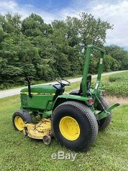 Clean John Deere 770 WithMower Diesel tractor Clean CAN SHIP 650.00 FLAT RATE