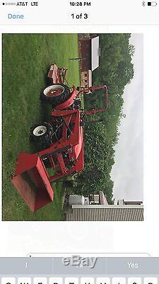 Compact tractor, loader cutter, 4wd did run but leaks oil between trans motor